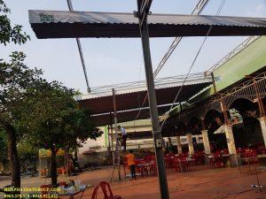 Mái che di động sân trường, thiết kế lắp đặt mái bạt xếp bạt kéo sân trường giá rẻ