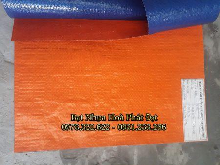Báo giá bạt nhựa xanh cam 2 da