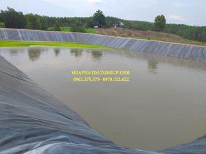 Báo giá cung cấp thi công vải bạt, màng chống thấm nước HDPE lót ao hồ tôm cá tại Huyện Xuân Lộc